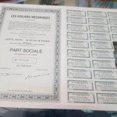 Coleccionismo Acciones Españolas: ANTIGUA ACCION LES ATELIERS MECANIQUES LES HAYETTES BELGICA 1944. Lote 262901725