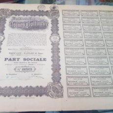Coleccionismo Acciones Españolas: ANTIGUA ACCION LES NOUVELLES USINES BOLLINCKR 1926. Lote 262902025