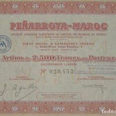 Colecionismo Ações Espanholas: SOCIEDAD MINERA PEÑARROYA MAROC (1953). Lote 263044400