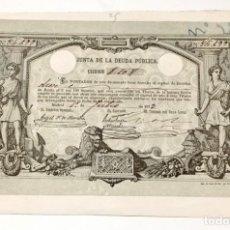 Collectionnisme Actions Espagne: ACCION ANTIGUA ORIGINAL.JUNTA DE LA DEUDA PUBLICA. Nº 84.699 MADRID 1873. ACCION-22. Lote 269380008