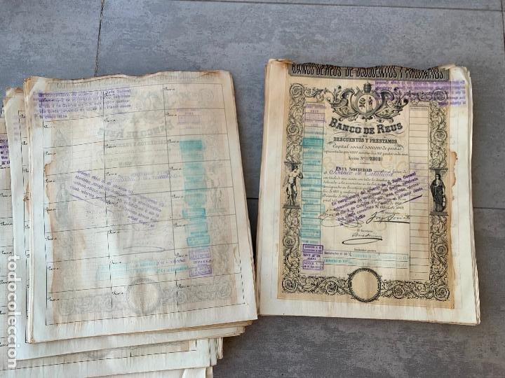 Coleccionismo Acciones Españolas: BANCO DE REUS LOTE DE 400 ACCIONES CORRELATIVAS 1919 - Foto 5 - 274613668