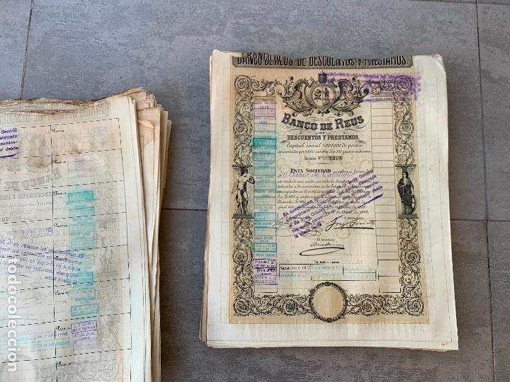 Coleccionismo Acciones Españolas: BANCO DE REUS LOTE DE 400 ACCIONES CORRELATIVAS 1919 - Foto 6 - 274613668