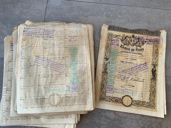 Coleccionismo Acciones Españolas: BANCO DE REUS LOTE DE 400 ACCIONES CORRELATIVAS 1919 - Foto 9 - 274613668