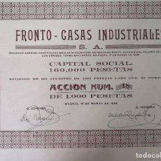 Colecionismo Ações Espanholas: 1946, ANTIGUA ACCIÓN ESPAÑOLA, FRONTO CASAS INDUSTRIALES, MADRID, 34 X 20 CMS.. Lote 287071973