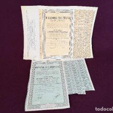 Colecionismo Ações Espanholas: 1960´S, 2 ANTIGUAS ACCIONES ESPAÑOLAS, HILADORA ILICITANA, ELCHE, 50 X 35 CMS.. Lote 287079563