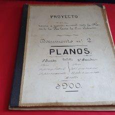 Coleccionismo Acciones Españolas: PLANOS-PROYECTO DE TRANVIA ELECTRICO DEL OESTE DE BARCELONA MATERIAL MOVIL .VER FOTOS. Lote 288514498