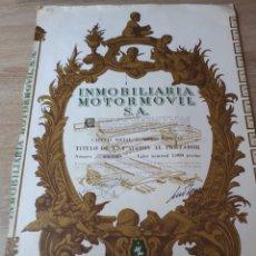 Coleccionismo Acciones Españolas: ACCION INMOBILIARIA MOTOR MOVIL S.A. 1969. Lote 289684568