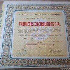 Coleccionismo Acciones Españolas: ACCION PRODUCTOS ELECTROLITICOS S.A.. Lote 289686108