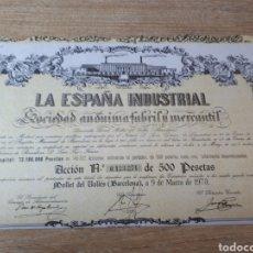 Coleccionismo Acciones Españolas: ACCION LA ESPAÑA INDUSTRIAL BARCELONA 1973. Lote 289686698