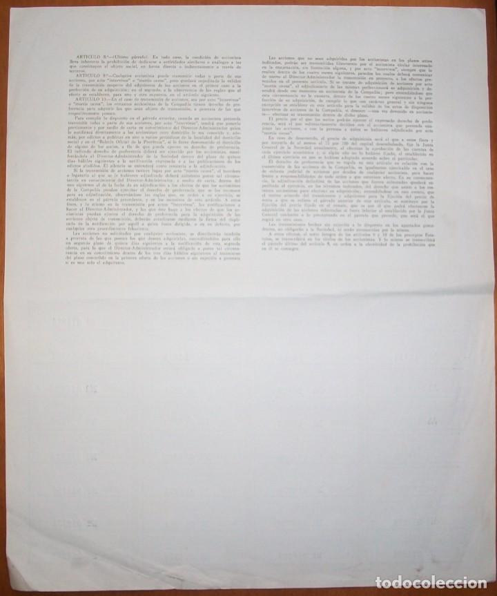 Coleccionismo Acciones Españolas: Metalmecánica S.A. Oviedo (Asturias). 1967 - Foto 3 - 289729838