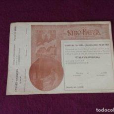 Colecionismo Ações Espanholas: ANTIGUA ACCIÓN, TERMO ENERGÍA, BARCELONA, 1919. Lote 293277228