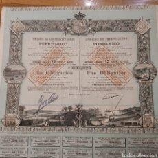 Coleccionismo Acciones Españolas: COMPAÑÍA DE LOS FERRO-CARRILES DE PUERTO RICO (1888). Lote 294100293