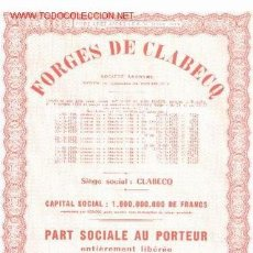 Coleccionismo Acciones Extranjeras: FORGES DE CLABECQ 1944 *. Lote 1773887