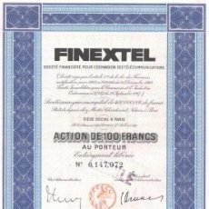 Coleccionismo Acciones Extranjeras: SOCIETE FINANCIERE POUR L 'EXPANSION DES TELECOMMUNICATIONS. Lote 27398197
