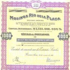 Coleccionismo Acciones Extranjeras: MOLINOS RIO DE LA PLATA. Lote 4182722