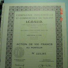 Coleccionismo Acciones Extranjeras: 8040 FRANCIA FRANCE CIA INDUSTRIAL Y COMERCIAL - AÑO 1963 - MAS EN COSAS&CURIOSAS. Lote 5947062