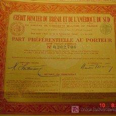 Coleccionismo Acciones Extranjeras: 8046 BRASIL BRESIL CREDIT FONCIER AÑO 1939 - MAS EN COSAS&CURIOSAS. Lote 5947066