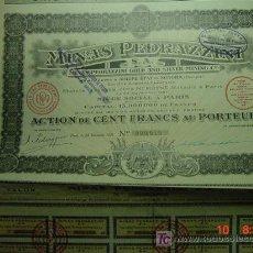 Coleccionismo Acciones Extranjeras: 8048 MEXICO MINAS DE PEDRAZZINI AÑO 1921 ACCION SHARE - MAS EN COSAS&CURIOSAS. Lote 7687422