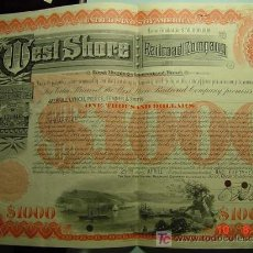 Coleccionismo Acciones Extranjeras: 8067 USA ESTADOS UNIDOS RAILROAD - 1000 $ - AÑO 1958 - COSAS&CURIOSAS. Lote 9670883