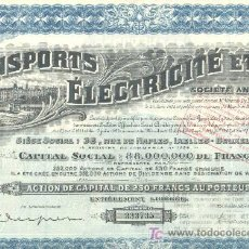 Coleccionismo Acciones Extranjeras: TRANSPORTS ELECTRICITE ET GAZ 1929 *. Lote 6197187