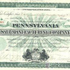 Coleccionismo Acciones Extranjeras: PENNSYLVANIA SALT MANUFACTURING 1912 *. Lote 50732149