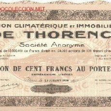 Coleccionismo Acciones Extranjeras: STATION CLIMATERIQUE ET IMMOBILIERE DE THORENC 1928. Lote 3624997
