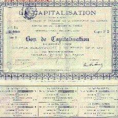 Coleccionismo Acciones Extranjeras: ACCIÓN DE LA CAPITALISATION (1897).. Lote 23599724