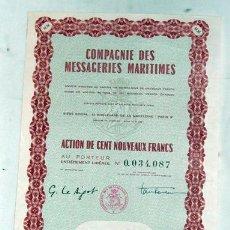 Coleccionismo Acciones Extranjeras: ACCIÓN - COMPAGNIE DES MESSAGERIES MARITIMES. Lote 26591170