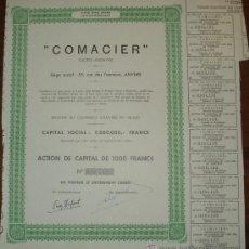 Coleccionismo Acciones Extranjeras: ACCION COMADIER - BRUSELAS 1947. Lote 14026682
