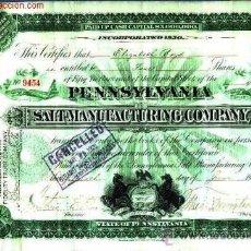 Coleccionismo Acciones Extranjeras: PENNSYLVANIA SALT MANUFACTURING COMPANY. Lote 22548428
