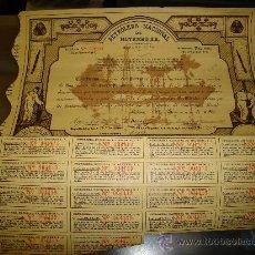 Coleccionismo Acciones Extranjeras: ACCION PETROLERA NACIONAL DE MOTEMBO S.A AÑO 1939. Lote 25102132