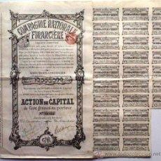 Coleccionismo Acciones Extranjeras: COMPAGNIE NATIONALE FINANCIÉRE. Lote 18853161