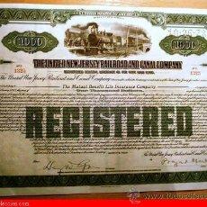 Coleccionismo Acciones Extranjeras: UNITED NEW JERSEY RAILROAD AND CANAL COMPANY. Lote 18909310