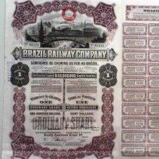 Coleccionismo Acciones Extranjeras: BRAZIL RAILWAY COMPANY. Lote 18909367
