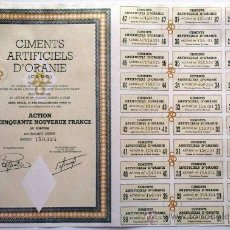 Coleccionismo Acciones Extranjeras: CIMENTS ARTIFICIELS D'ORANIE (C. A. D. O. ). Lote 20929559