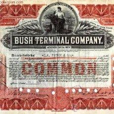 Coleccionismo Acciones Extranjeras: BUSH TERMINAL COMPANY. Lote 20985797