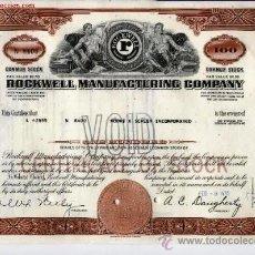 Coleccionismo Acciones Extranjeras: ROCKWELL MANUFACTURING COMPANY. Lote 21013831