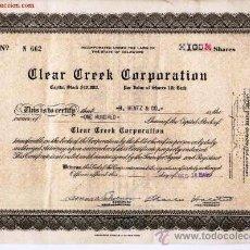 Coleccionismo Acciones Extranjeras: CLEAR CREEK CORPORATION. Lote 21013833