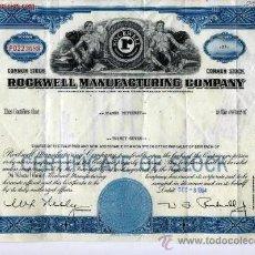 Coleccionismo Acciones Extranjeras: ROCKWELL MANUFACTURING COMPANY. Lote 21013835