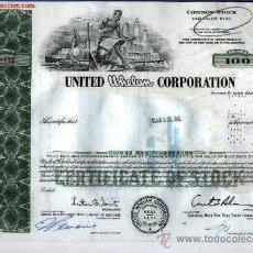 Coleccionismo Acciones Extranjeras: UNITED WHELAN CORPORATION. Lote 21029465