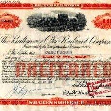 Coleccionismo Acciones Extranjeras: THE BALTIMORE AND OHIO RAILROAD COMPANY. Lote 21812040