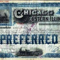 Coleccionismo Acciones Extranjeras: CHICAGO AND EASTERN ILLINOIS RAILROAD COMPANY.. Lote 21812041