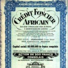 Coleccionismo Acciones Extranjeras: CRÉDIT FONCIER AFRICAIN. Lote 30019673