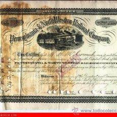 Coleccionismo Acciones Extranjeras: PENNSYLVANIA & NORTH WESTERN RAILROAD COMPANY, 1890. Lote 31617185