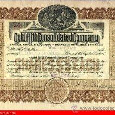 Coleccionismo Acciones Extranjeras: GOLD HILL CONSOLIDATED COMPANY . Lote 31617396