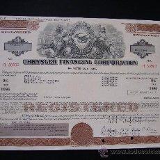Collectionnisme Actions Internationales: ACCIÓN DE CHRYSLER FINANCIAL CORPORATION 1983. Lote 32380598