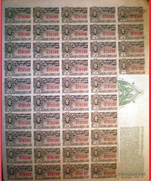 Coleccionismo Acciones Extranjeras: 44 cupones adheridos. - Foto 2 - 32752458