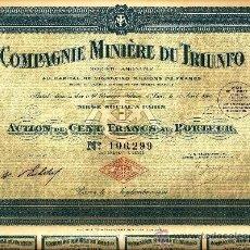 Coleccionismo Acciones Extranjeras: COMPAGNIE MINIÈRE DU TRIUNFO. Lote 33300033