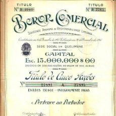 Coleccionismo Acciones Extranjeras: BOROR COMERCIAL, S. A.. Lote 33521495