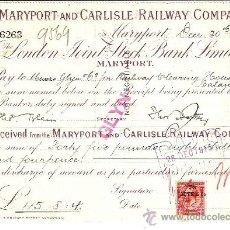 Coleccionismo Acciones Extranjeras: MARYPORT AND CARLISLE RAILWAY COMPANY 1915. Lote 33628354